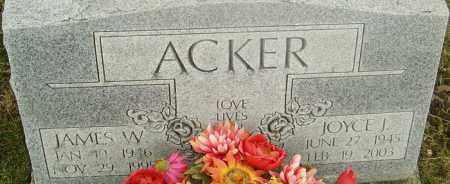 ACKER, JAMES - Franklin County, Ohio | JAMES ACKER - Ohio Gravestone Photos