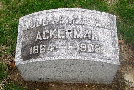 ACKERMAN, LULU HENRIETTA - Franklin County, Ohio | LULU HENRIETTA ACKERMAN - Ohio Gravestone Photos