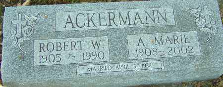 ACKERMANN, ROBERT W - Franklin County, Ohio | ROBERT W ACKERMANN - Ohio Gravestone Photos