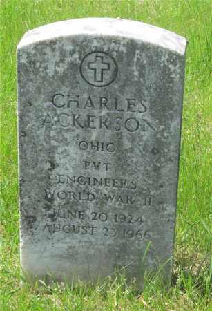 ACKERSON, CHARLES - Franklin County, Ohio | CHARLES ACKERSON - Ohio Gravestone Photos