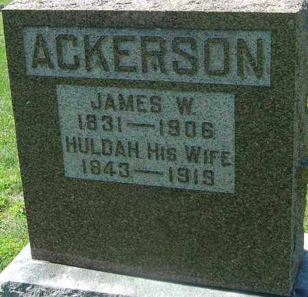 MOSSMAN ACKERSON, HULDAH - Franklin County, Ohio | HULDAH MOSSMAN ACKERSON - Ohio Gravestone Photos