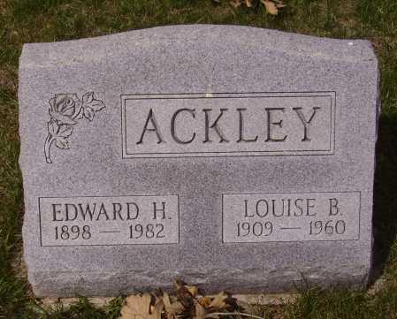 ACKEY, EDWARD H. - Franklin County, Ohio | EDWARD H. ACKEY - Ohio Gravestone Photos