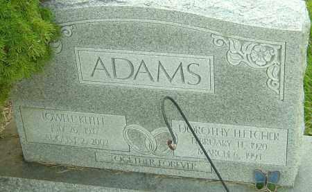 ADAMS, DOROTHY - Franklin County, Ohio | DOROTHY ADAMS - Ohio Gravestone Photos