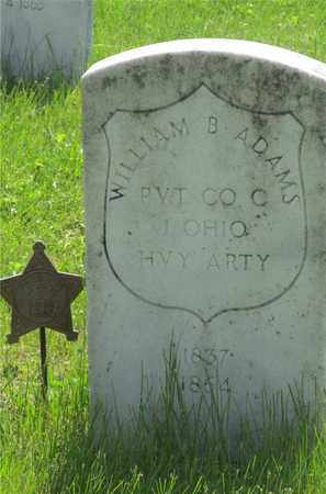 ADAMS, WILLIAM B. - Franklin County, Ohio | WILLIAM B. ADAMS - Ohio Gravestone Photos