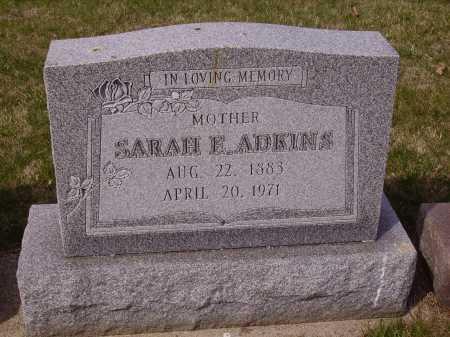 ADKINS, SARAH E. - Franklin County, Ohio | SARAH E. ADKINS - Ohio Gravestone Photos
