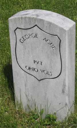 AGUE, GEORGE - Franklin County, Ohio   GEORGE AGUE - Ohio Gravestone Photos