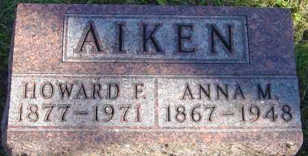 AIKEN, ANNA M - Franklin County, Ohio   ANNA M AIKEN - Ohio Gravestone Photos