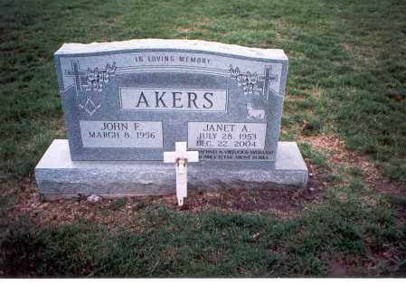AKERS, JOHN F - Franklin County, Ohio | JOHN F AKERS - Ohio Gravestone Photos