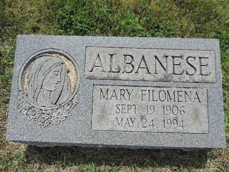 ALBANESE, MARY - Franklin County, Ohio | MARY ALBANESE - Ohio Gravestone Photos