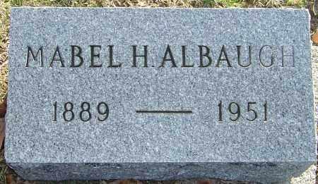 ALBAUGH, MABEL H - Franklin County, Ohio | MABEL H ALBAUGH - Ohio Gravestone Photos