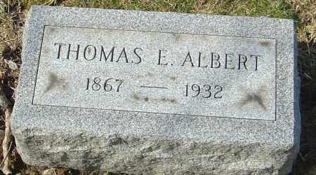 ALBERT, THOMAS E - Franklin County, Ohio | THOMAS E ALBERT - Ohio Gravestone Photos