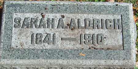 COULTER ALDRICH, SARAH ANN TAYLOR - Franklin County, Ohio   SARAH ANN TAYLOR COULTER ALDRICH - Ohio Gravestone Photos