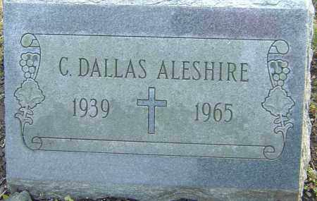 ALESHIRE, CHARLES DALLAS - Franklin County, Ohio   CHARLES DALLAS ALESHIRE - Ohio Gravestone Photos