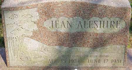 ALESHIRE, JEAN - Franklin County, Ohio   JEAN ALESHIRE - Ohio Gravestone Photos