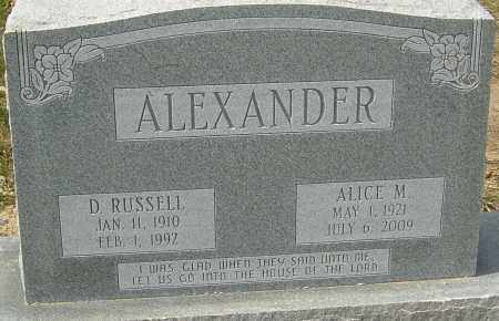 ALEXANDER, D RUSSELL - Franklin County, Ohio   D RUSSELL ALEXANDER - Ohio Gravestone Photos