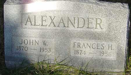 ALEXANDER, JOHN W - Franklin County, Ohio | JOHN W ALEXANDER - Ohio Gravestone Photos