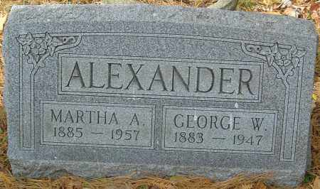 ALEXANDER, GEORGE WILLIAM - Franklin County, Ohio | GEORGE WILLIAM ALEXANDER - Ohio Gravestone Photos