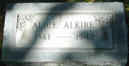 ALKIRE, ALICE - Franklin County, Ohio | ALICE ALKIRE - Ohio Gravestone Photos