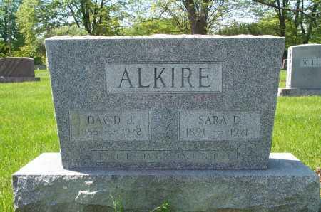 ALKIRE, DAVID JACKSON - Franklin County, Ohio | DAVID JACKSON ALKIRE - Ohio Gravestone Photos