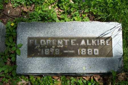 ALKIRE, FLORENT E. - Franklin County, Ohio   FLORENT E. ALKIRE - Ohio Gravestone Photos