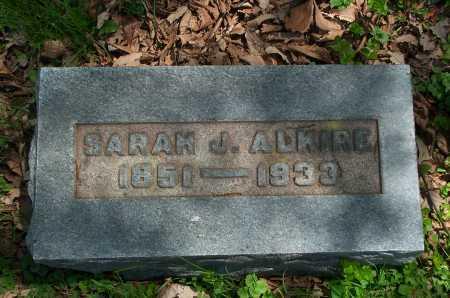 ALKIRE, SARAH J. - Franklin County, Ohio | SARAH J. ALKIRE - Ohio Gravestone Photos