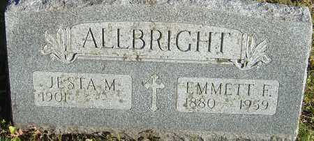 ALLBRIGHT, EMMETT F - Franklin County, Ohio | EMMETT F ALLBRIGHT - Ohio Gravestone Photos