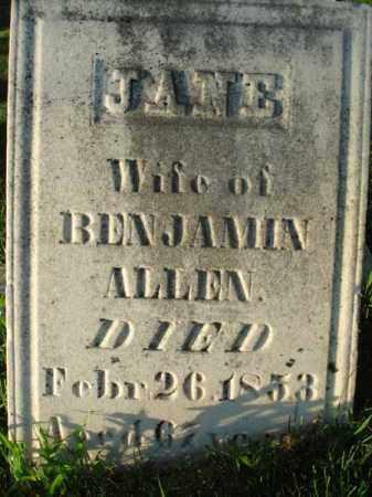ALLEN, JANE - Franklin County, Ohio | JANE ALLEN - Ohio Gravestone Photos
