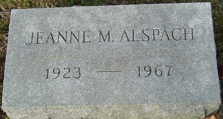 ALSPACH, JEANNE M - Franklin County, Ohio   JEANNE M ALSPACH - Ohio Gravestone Photos