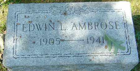 AMBROSE, EDWIN LEICHLITER - Franklin County, Ohio   EDWIN LEICHLITER AMBROSE - Ohio Gravestone Photos