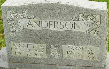 ANDERSON, SARAH - Franklin County, Ohio | SARAH ANDERSON - Ohio Gravestone Photos