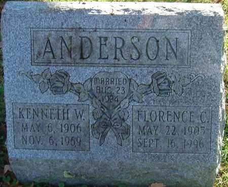 ANDERSON, FLORENCE CAROLINE - Franklin County, Ohio | FLORENCE CAROLINE ANDERSON - Ohio Gravestone Photos