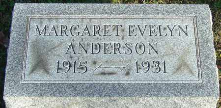 ANDERSON, MARGARET EVELYN - Franklin County, Ohio   MARGARET EVELYN ANDERSON - Ohio Gravestone Photos