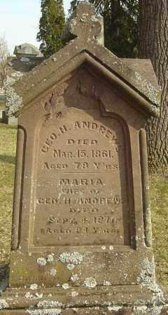 ANDREWS, GEORGE H - Franklin County, Ohio | GEORGE H ANDREWS - Ohio Gravestone Photos