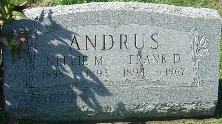 ANDRUS, FRANK D - Franklin County, Ohio | FRANK D ANDRUS - Ohio Gravestone Photos