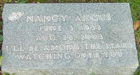 ANGUS, NANCY - Franklin County, Ohio   NANCY ANGUS - Ohio Gravestone Photos