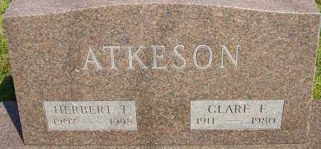 ATKESON, HERBERT T - Franklin County, Ohio | HERBERT T ATKESON - Ohio Gravestone Photos