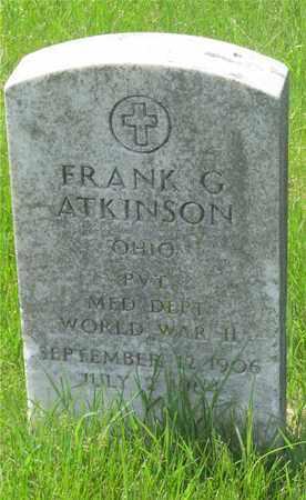 ATKINSON, FRANK G. - Franklin County, Ohio | FRANK G. ATKINSON - Ohio Gravestone Photos