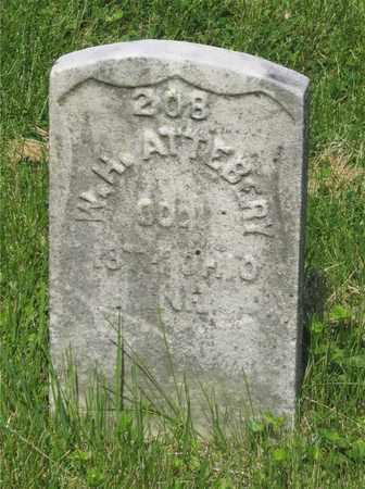 ATTEBERY, W. H. - Franklin County, Ohio | W. H. ATTEBERY - Ohio Gravestone Photos