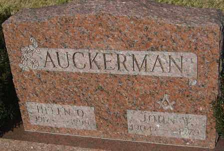 AUCKERMAN, JOHN W - Franklin County, Ohio   JOHN W AUCKERMAN - Ohio Gravestone Photos