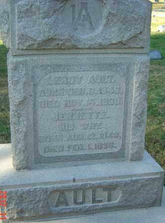 AULT, JENNETTE - Franklin County, Ohio | JENNETTE AULT - Ohio Gravestone Photos