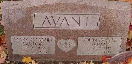 AVANT, JOHN DANIEL - Franklin County, Ohio | JOHN DANIEL AVANT - Ohio Gravestone Photos