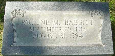 MCCOY BABBITT, PAULINE - Franklin County, Ohio | PAULINE MCCOY BABBITT - Ohio Gravestone Photos
