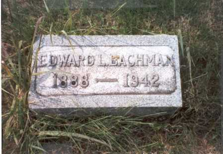 BACHMAN, EDWARD L. - Franklin County, Ohio | EDWARD L. BACHMAN - Ohio Gravestone Photos