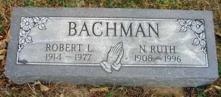 BACHMAN, ROBERT L. - Franklin County, Ohio | ROBERT L. BACHMAN - Ohio Gravestone Photos