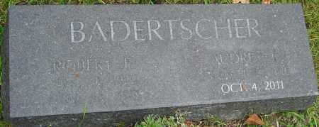 BADERTSCHER, AUDREY - Franklin County, Ohio | AUDREY BADERTSCHER - Ohio Gravestone Photos