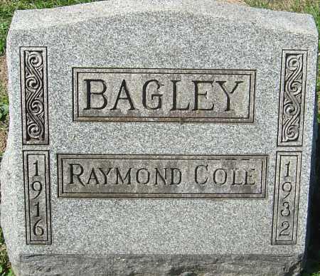 BAGLEY, RAYMOND COLE - Franklin County, Ohio   RAYMOND COLE BAGLEY - Ohio Gravestone Photos