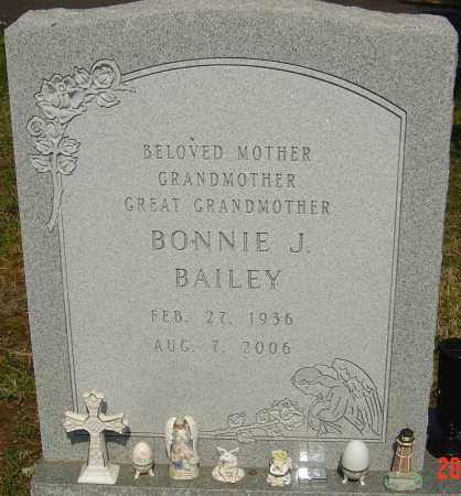 BAILEY, BONNIE J - Franklin County, Ohio   BONNIE J BAILEY - Ohio Gravestone Photos
