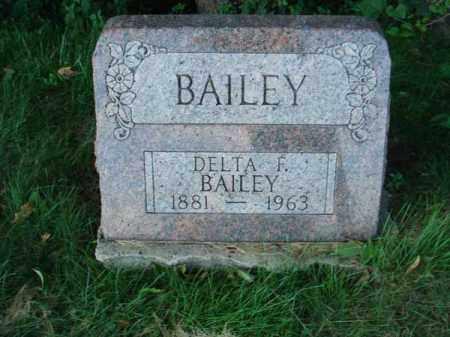 BAILEY, DELTA F. - Franklin County, Ohio | DELTA F. BAILEY - Ohio Gravestone Photos