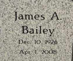 BAILEY, JAMES A - Franklin County, Ohio | JAMES A BAILEY - Ohio Gravestone Photos