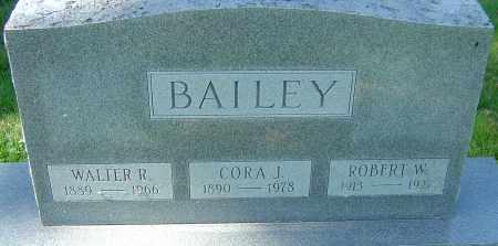 BAILEY, WALTER R - Franklin County, Ohio | WALTER R BAILEY - Ohio Gravestone Photos
